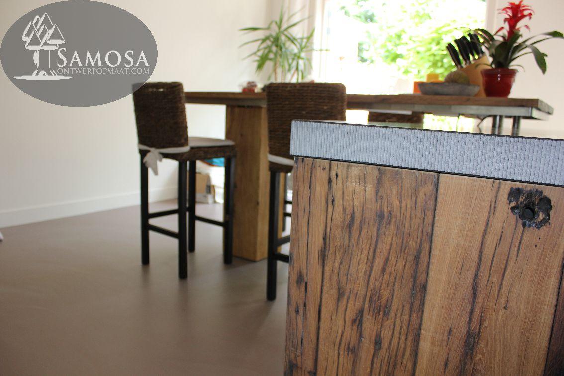 Samosa – ontwerp op maat » keuken op maat: oud eiken