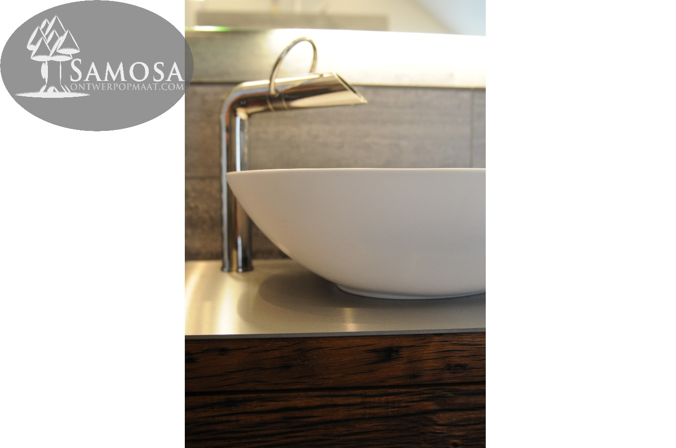 Samosa – ontwerp op maat » uniek badkamer meubel