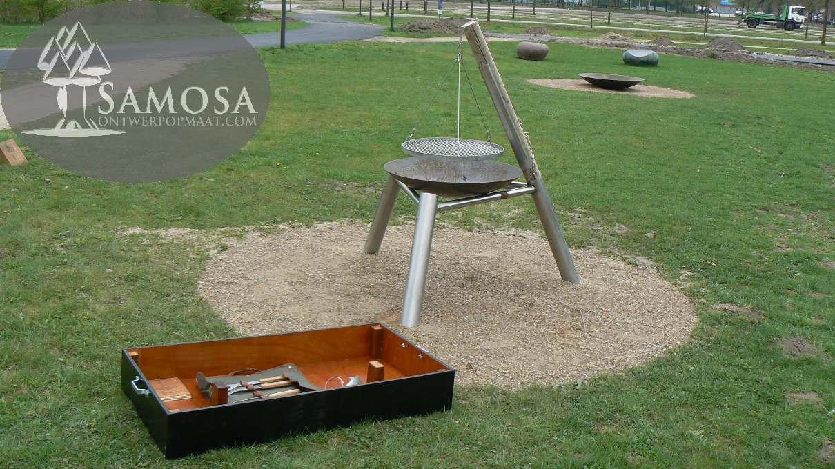 Samosa ontwerp op maat barbecue locatie universiteit wageningen - Barbecue ontwerp ...