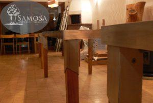 iroko rubber RVS tafel samosa ontwerp op maat 1