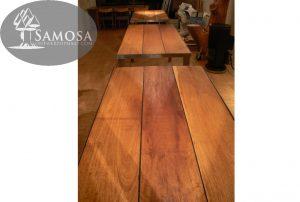 iroko rubber RVS tafel samosa ontwerp op maat 2