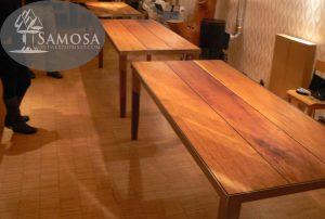 iroko rubber RVS tafel samosa ontwerp op maat 3