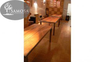 iroko rubber RVS tafel samosa ontwerp op maat 4