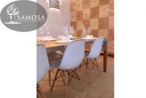 iroko rubber RVS tafel samosa ontwerp op maat 7