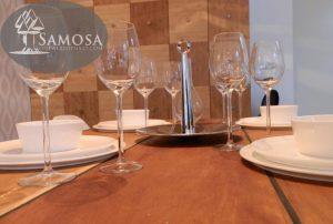 iroko rubber RVS tafel samosa ontwerp op maat 8 - Copy