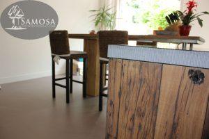 oud eiken keuken wanden en hoge tafel barblad 5