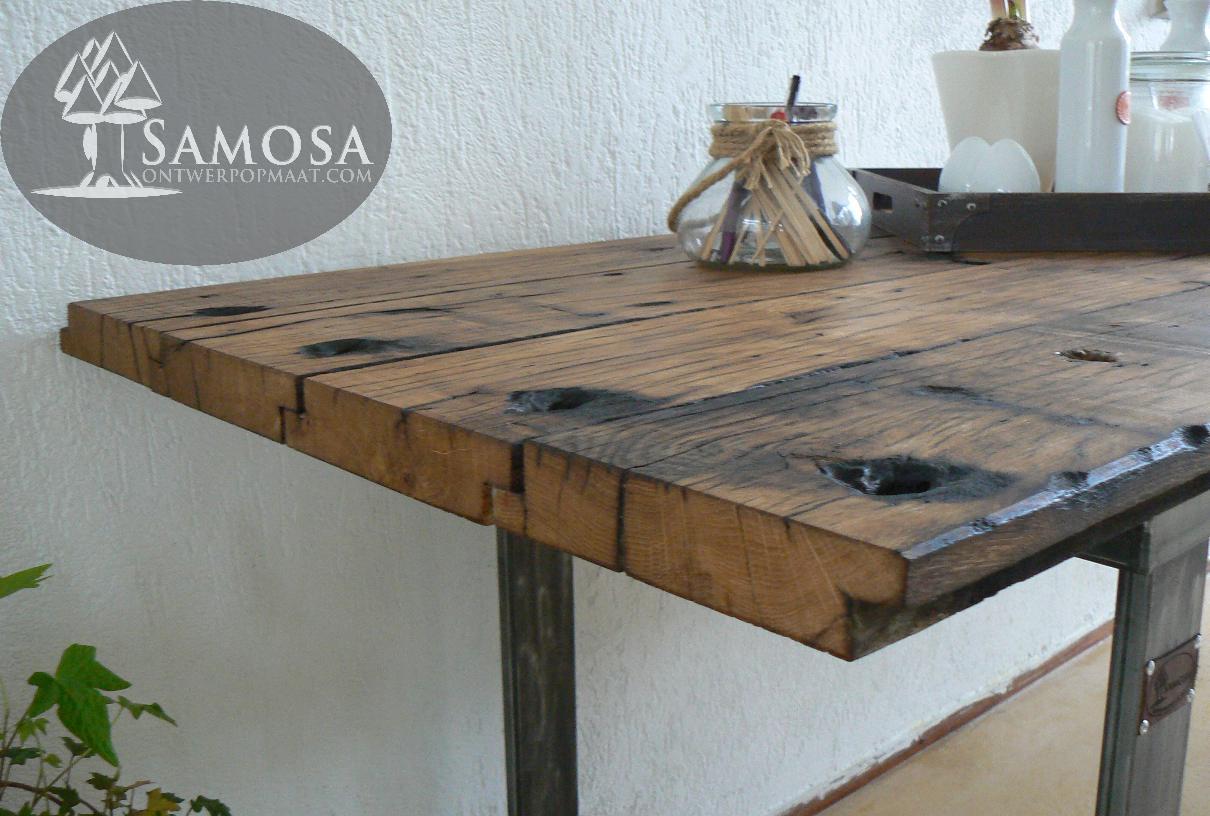 Oude Eiken Tafel.Samosa Ontwerp Op Maat Oud Eiken Een Nieuw Leven Samosa