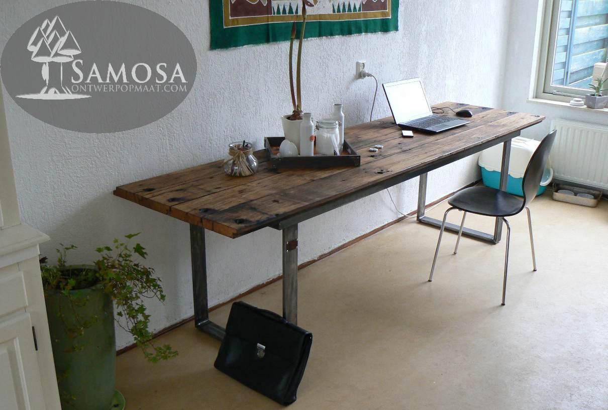 Samosa ontwerp op maat oud eiken for Eiken tafel